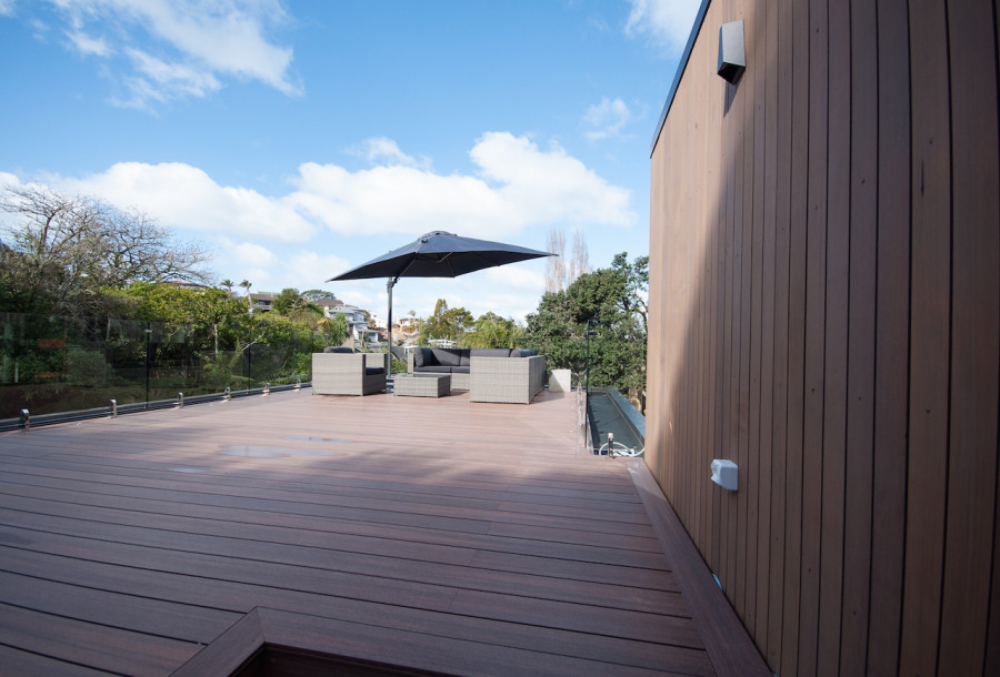 Our roof top deck - still plenty of room for some hammocks, loungers and bean-bags!